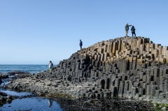 Am Giants Causeway in Nordirland